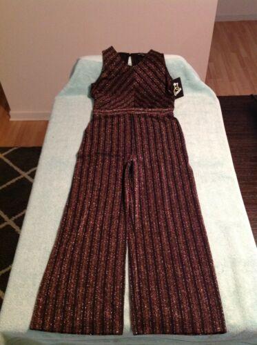 Girls Art Class Metallic Sleeveless Jumpsuit Sizes Medium 7/8 Or XL 14/16 NWT