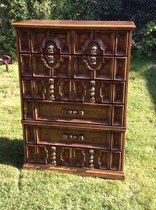 Hardwood antique dresser