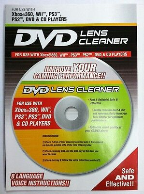 Playtech Wet/Dry Laser Lens Cleaner for Xbox 360 PS3 PS2 DVD CD Players PLC001