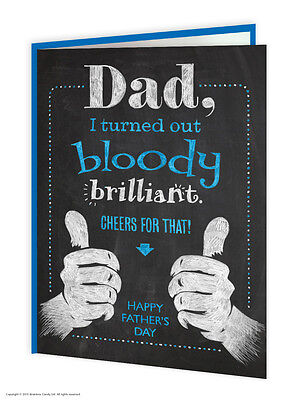 Greetings Card / Brainbox Candy / Funny / Humour / Father's / Fathers Day / Dad