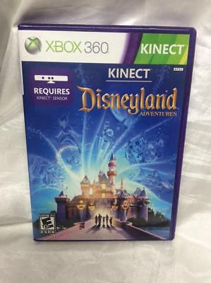 Kinect Disneyland Adventures Xbox 360 case, cover art, game disc, booklet