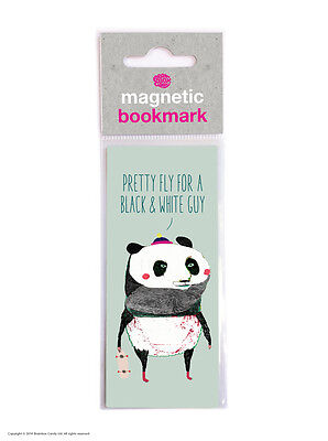Brainbox Candy Reading novelty magnetic bookmark funny cheap present gift panda