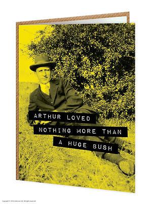Brainbox Candy funny humour 'Huge Bush' birthday greeting card cheeky old photo