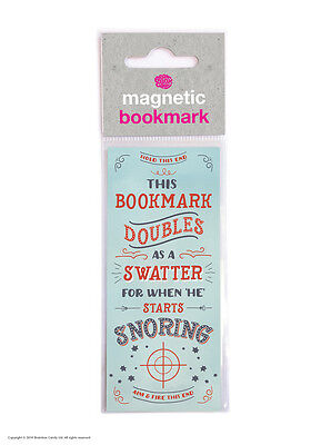 Brainbox Candy Snoring Swatter magnetic bookmark funny cheap gift present