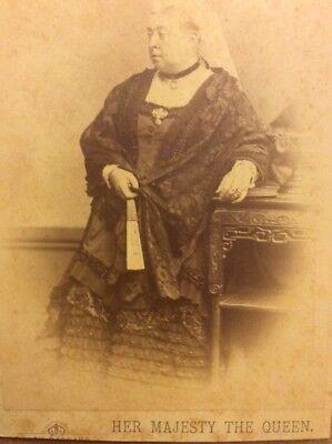 Rare Cabinet Photo Queen Victoria A. Bassano London United Kingdom Royal England