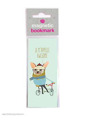 Brainbox Candy Reading magnetic bookmark funny cheap present gift french bulldog