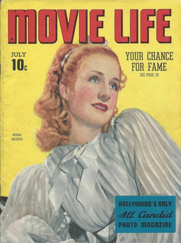 Movie Life - Norma Shearer - July 1938