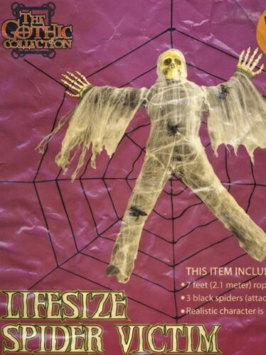 THE GOTHIC COLLECTION LIFE SIZE SPIDER VICTIM PREY - 2009 - BRAND NEW SEALED