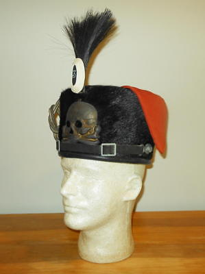 WW1 Imperial German Army Prussian Hussar - PELZMUTE / BUSBY - NAMED - VERY RARE!