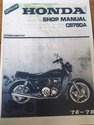 HONDA CB 750 A WORKSHOP SERVICE MANUAL 1976 - 1978