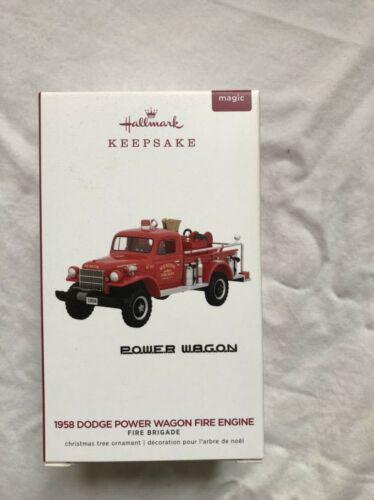 Hallmark Keepsake 1958 Dodge Power Wagon Fire Engine Magic Lights 2019 QXR9149