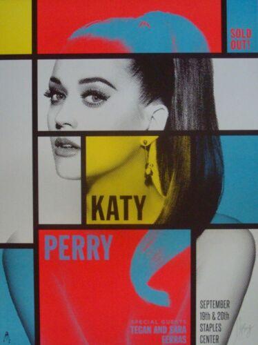 KATY PERRY LOS ANGELES 2014 Concert poster KII ARENS Mint 18x24 MONDRIAN