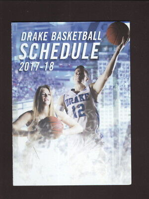 Drake Bulldogs  2017 18 Basketball Pocket Schedule  Emc Insurance