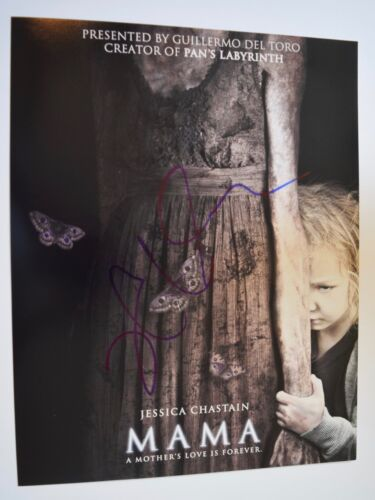 Jessica Chastain Signed Autographed 11x14 Photo Poster MAMA COA VD