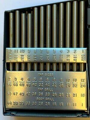 1-60 60 Piece Drill Blank Set In Huot Steel Case - New