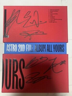 ASTRO 2ND FULL RED Autograph ALL MEMBER Signed PROMO ALBUM KPOP signature