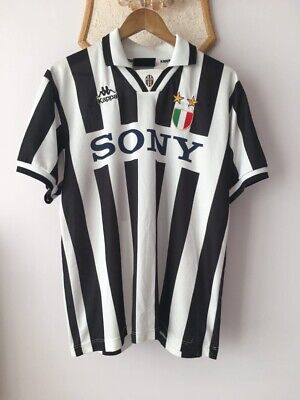 JUVENTUS ITALY 1995 1996 HOME FOOTBALL SHIRT JERSEY KAPPA VINTAGE MAGLIA SONY image
