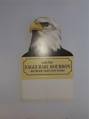 """Lot 5 Eagle Rare Bourbon table tent card NOS unused advertising vintage 6"""" tall"""