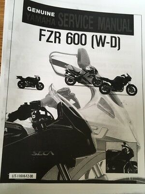 YAMAHA FZR 600 W WC WORKSHOP SERVICE MANUAL Paper copy