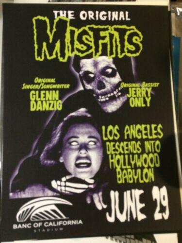 2019 MISFITS LOS ANGELES NOT SIGNED GLEN DANZIG CONCERT POSTER FAIREY 7/29