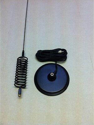 """Long Springer Tornado Stinger CB Antenna + 7 """" Turbo Magnetic  Mount   CB Aerial"""