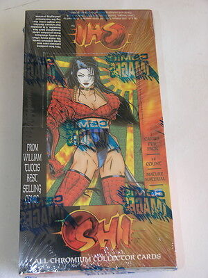 Shi All Chromium Comic Images 1995 Box of Cards