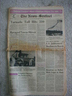 1974 Newspaper TORNADO Xenia OHIO 310 deaths old RARE Richard Nixon Vintage news