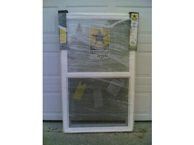BRAND NEW: Nice White VINYL House SINGLE-HUNG WINDOW 32x54 (w/ nailing flange)