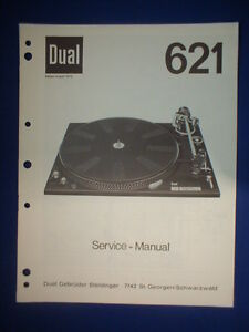 Dual 621 Turntable Service Manual Original Good Condition English ...