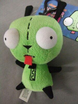 Cute Green Alien Invader Zim Dog Suit Gir Mini Plush Stuffed Toy Doll Clipon