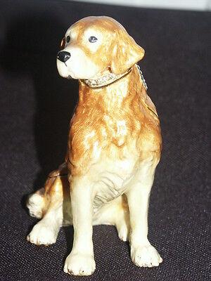 Styled Labrador Retriver Hund Schmuck Objekt Pillen Dose Ring Schatulle Geschenk