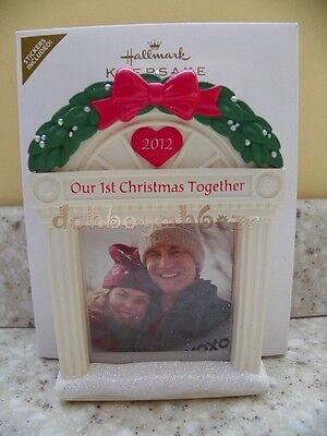 Hallmark 2012 Our First Christmas Together Photo Holder Frame Christmas Ornament