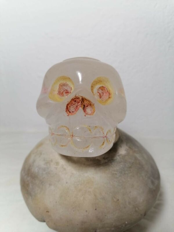 Pre-Columbian  Rare Aztec Crystal skull from Mexico. Ca. 1400 ad.