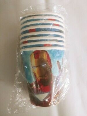 Iron Man 2 Hot Cold Paper Cups Birthday Party Free - Birthday Party Paper Cups