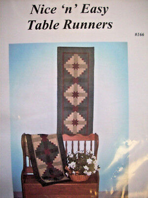 (Nice and EAsy Table Runners pieced block quilt pattern)