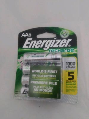 Energizer AA Universal Recharge  8 batteries. Fast Shipping! (Energizer Recharge)