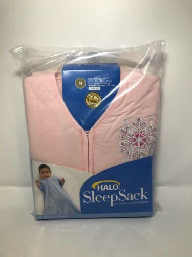 HALO Winter Weight Sleepsack, Pink Snowflake, Medium