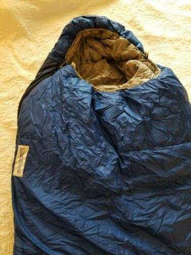 "Moonstone Naatak Right Side Zip Mummy Sleeping Bag (3-Season), 94"" long, EUC!"
