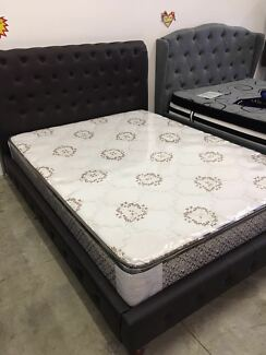 Brand New Queen/King Brown PU Leather Bed,Delivery is available