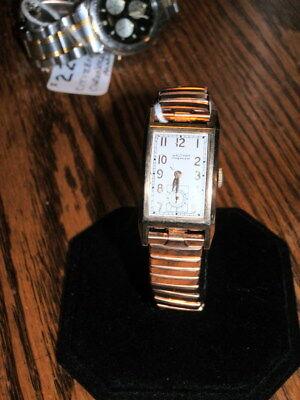 #5564,Waltham Premier,750,17J,10Kt GF,Art Deco Style,Vintage Wristwatch,