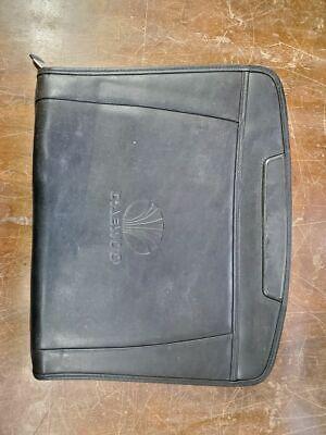 Daewoo Leather Zipper Portfolio