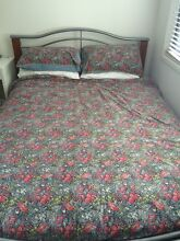 Wooden queen size bed with mattress Lutwyche Brisbane North East Preview