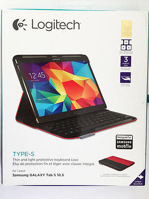 Logitech Type-s Wireless Keyboard Case For Samsung Galaxy...