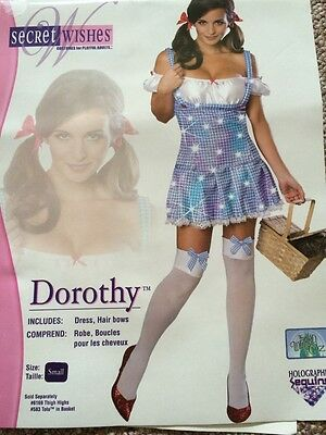 NWT Women's Secret Wishes Dorothy Adult Halloween Costume Medium S Wizard of Oz - Female Magician Halloween Costume
