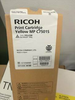 Ricoh Aficio MP-C6501 MP-C7501 Yellow Print Cartridge C7501S