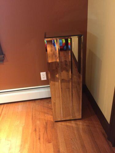 "Beveled Mirror 36"" Pedestal Stand in Excellent Vintage Condition"