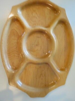 Vtg Mid-Century BLonde Hard Maple Stanwood Tray Wood Serving Platter  eeuc  18