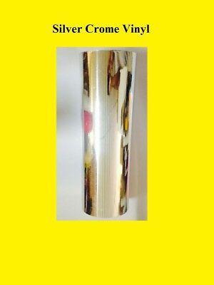 1 Roll Silver Crome Vinyl Plotter Cutter 12 Inches X 10 Ft Plotter Sign Sticker