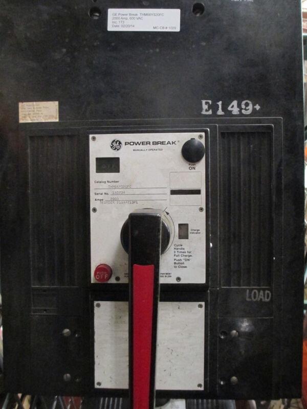 Ge Powerbreak Thm66ys20fc 2000a 3p 600v Mo/fixed Mount Circuit Breaker Used E-ok