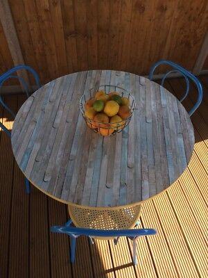 Round garden table and chairs mediterranean twist